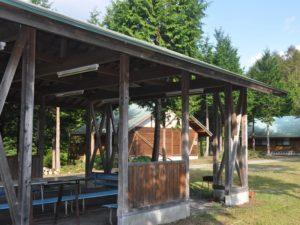 平谷湖コテージ バーベキューコーナー