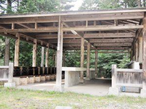平谷高原コテージ バーベキューコーナー