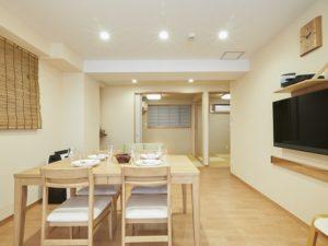 欅庵 4名用客室は和室2間に大型浴槽付き