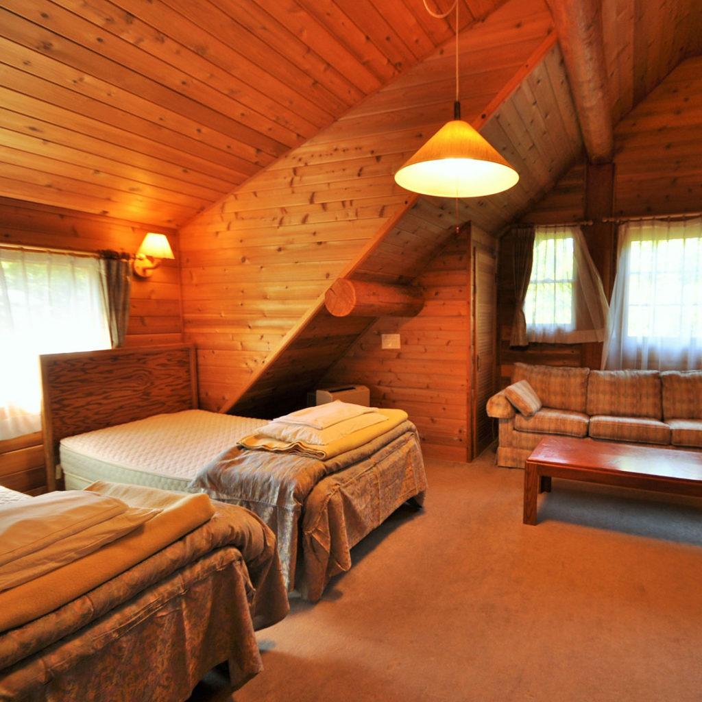 ウルベビレッジ ログハウス ベッドルーム