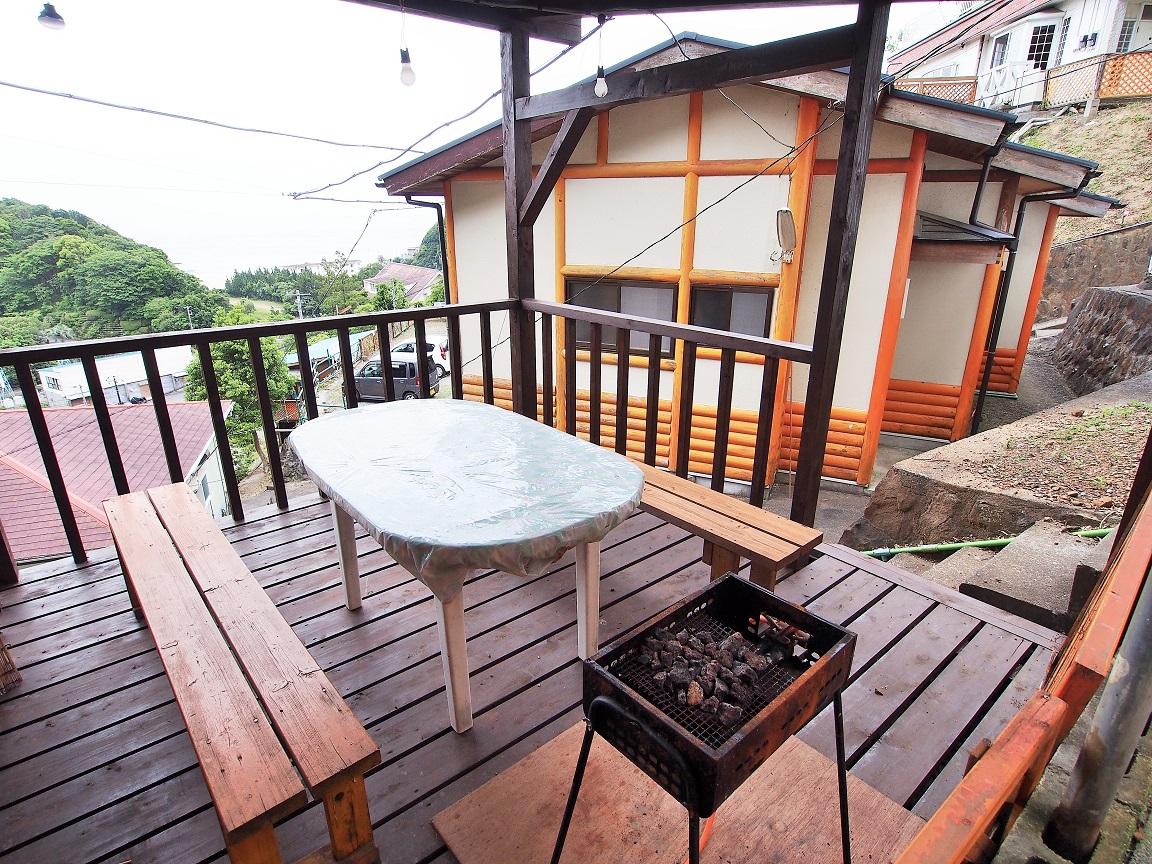 入田浜山荘 A6名用 バーベキュー場が隣接