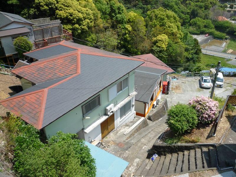 入田浜山荘 10名用コテージ 外観と立地
