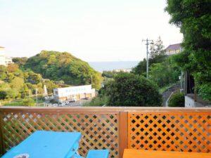 入田浜山荘 12名用 バーベキュー場からの景色