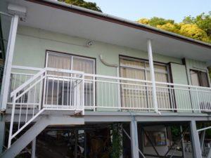 入田浜山荘 12名用 バーベキュー場へいく通路