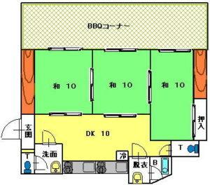 入田浜山荘 15~19名用 間取り図