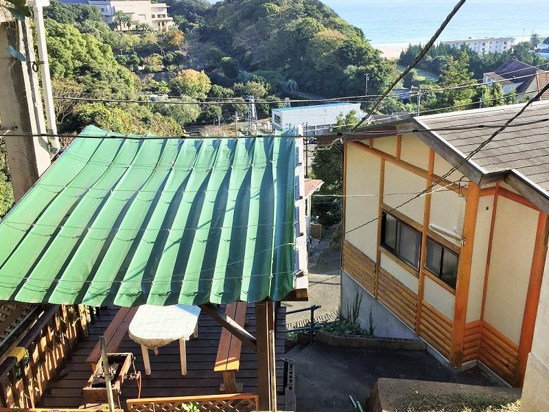 入田浜山荘 A6名用 屋根付きバーベキュー場