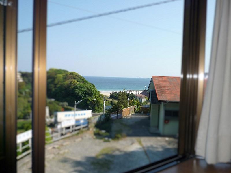 入田浜山荘 A6名用 室内からの景色