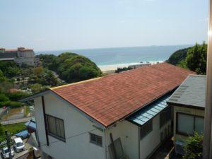 入田浜山荘 B6名用 和室からの景色