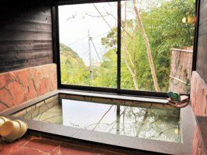 入田浜山荘 25~35名で泊まれる大型棟 露天風呂