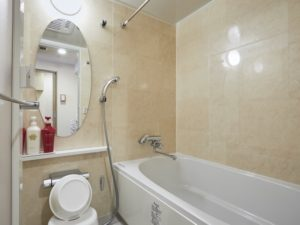 コンドミニアム欅庵東京日本橋 2名用バスルームはシャワー付き