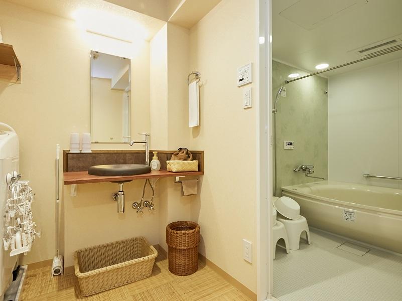 コンドミニアム欅案東京日本橋 家族皆で入れる大型浴室