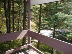香泉開発コテージ ハイクラス1 テラスからの景色