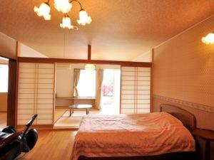 修善寺フォーレスト テラス露天風呂付5名用 2階客室ベッドルーム