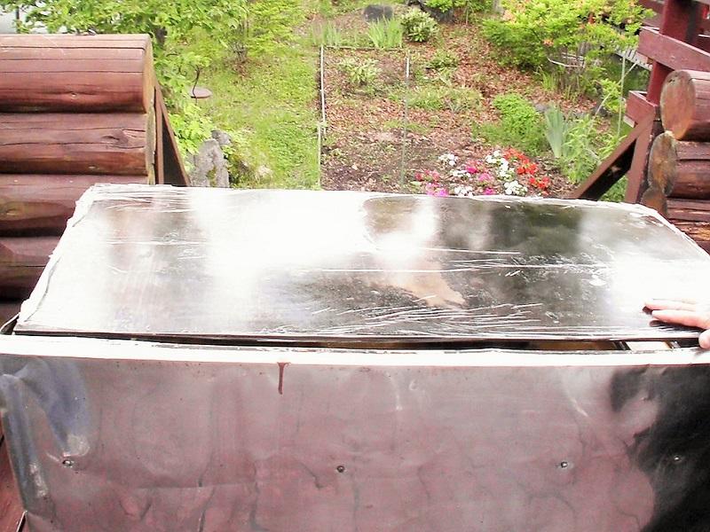 ウルベビレッジ BBQ用型鉄板が使えます