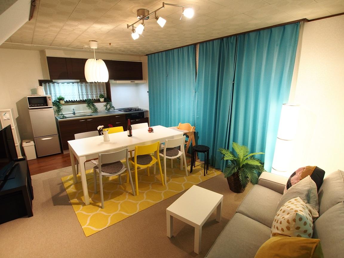 横浜川崎近く、たまプラーザの一戸建て宿 3名から8名までのグループ・ファミリー向け宿