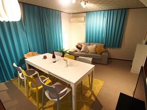 横浜川崎近く、たまプラーザの一戸建て宿 3名から8名までのグループ・ファミリー向け宿 ダイニング