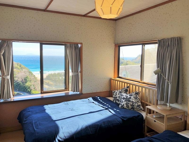 入田浜ビーチ近くの海一望の絶景コテージ。長年のリピーターさんが通う穴場コテージです